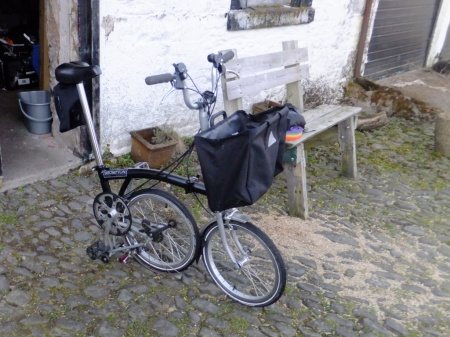 My Brompton. There's no real purpose for including this picture but you can never really have too many pictures of Bromptons