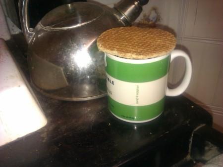stroopwafel on cup