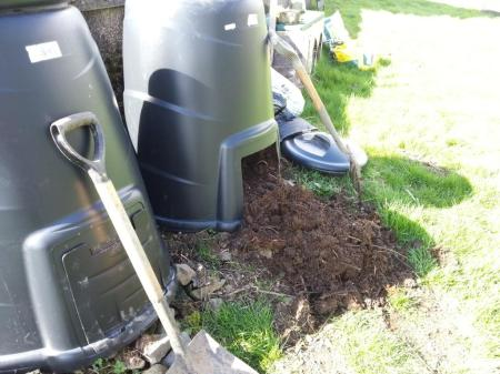 compost and compost bin